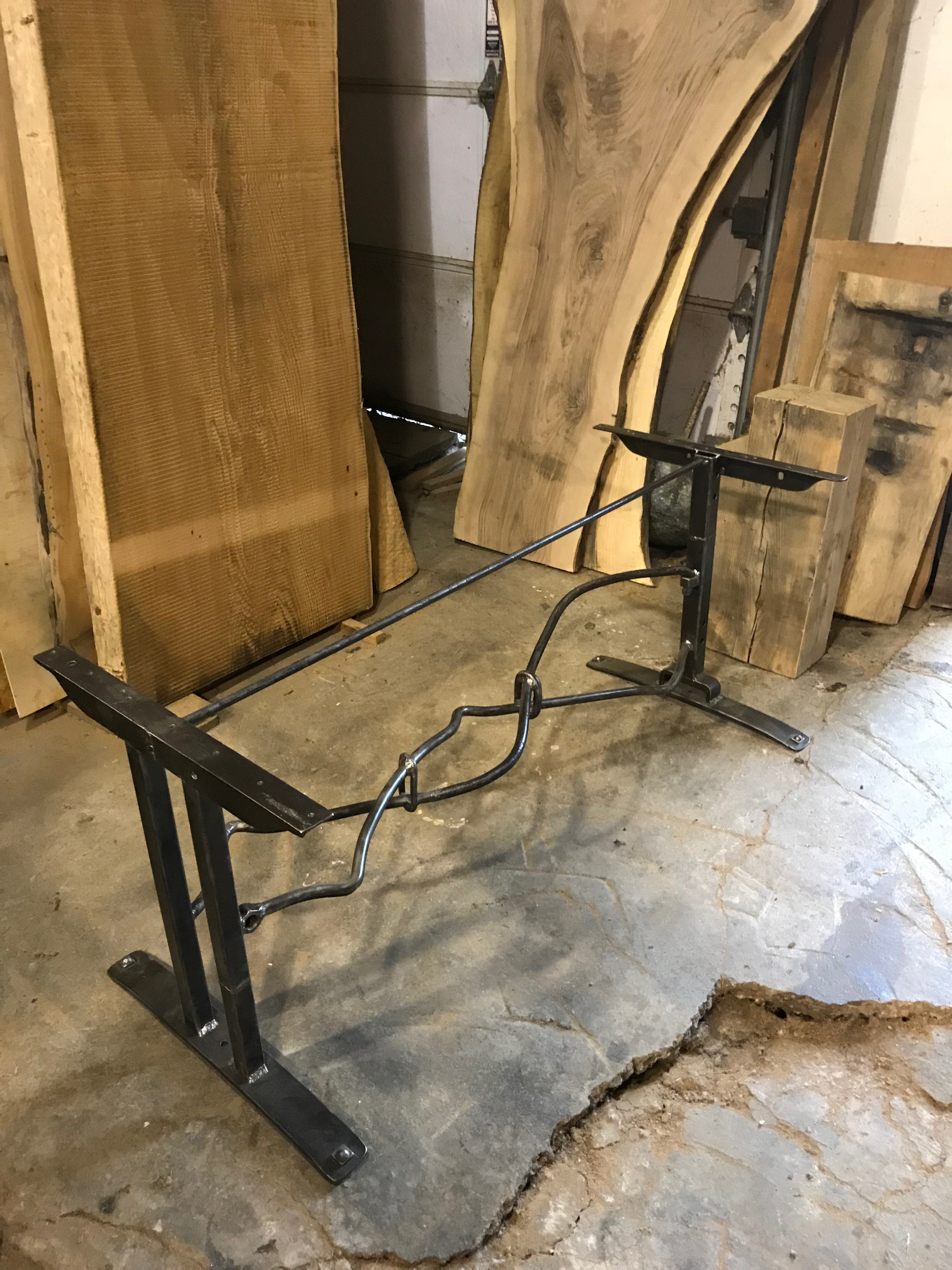 Custom Iron Table Base